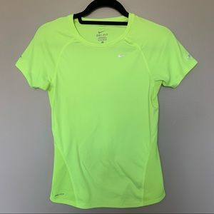 NIKE DRI-FIT Neon Yellow Running T-Shirt